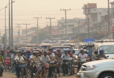 vehicle numbers growing at around 14% per year in Vientiane