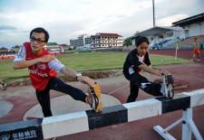 Lao Olympic Athletes Training