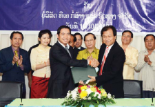 Signing Ceremony New Vientiane Times Office