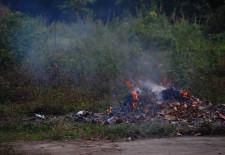 Burning Garbage Laos
