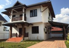 (860) Modern Lao Style House for Rent in Vientiane, Laos